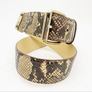 ETCETERA Snakeskin Pattern Leather Belt